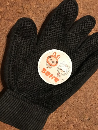 うさパラ2019年10月プレゼント(犬用グルーミンググローブ)