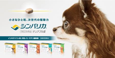 犬用ノミ・マダニ駆除薬「シンパリカ」