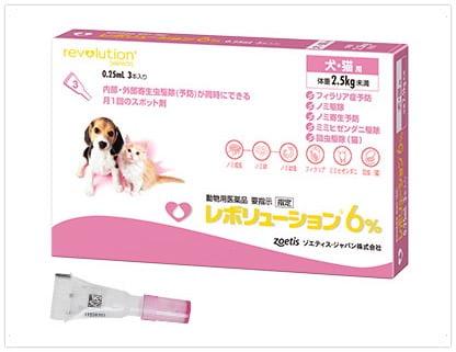 ノミダニフィラリア予防薬「レボリューション犬用猫用」最安値