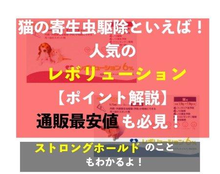ノミダニフィラリア予防薬「レボリューション猫用」通販最安値・解説記事のアイキャッチ